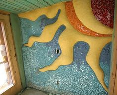 Mosaic Earthship Wall