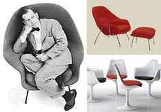 Eero Saarinen, maker of the most comfortable chairs ever.