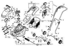 129 Best Qualcast lawnmower spares diagrams images