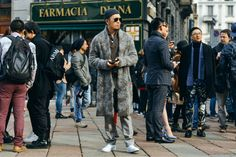 WHITE, Milan Trade show street style  #menswear #mensfashion #milan #streetstyle  www.VLADMONTHE.com