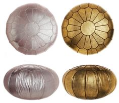 metallic poufs!  im obsessed with poufs