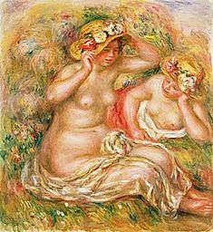 Pierre-Auguste Renoir - Two Nudes Wearing Hats