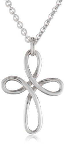 "Bob Siemon Sterling Silver Twisted Wire Cross Pendant Necklace, 20"" From Curated Collection $39.00"
