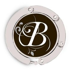 Luxe Link Purse Holder - Flourished Initial B $19.95