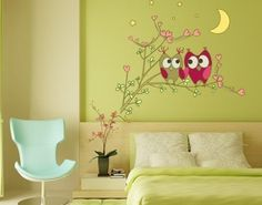 Style & Apply - Owl Friends - wall print decal, sticker, mural vinyl art home decor Style & Apply  $26.96