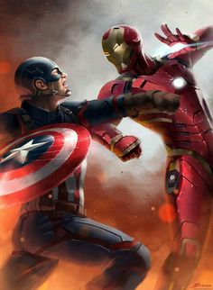 Civil War / Captain America vs  Iron Man!