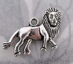 casted pewter lion charm 22x15mm - f4049