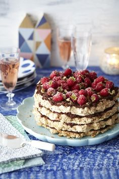 Hazelnut, Chocolate and Raspberry Macaroon Torte - just a taste of our Christmas inspired menus from our Bumper Christmas issue, out now.