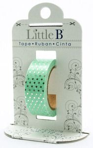 Silver Polka Dots Foil Decorative Paper Tape - Little B