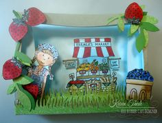 Farm Fresh Market- Diorama Card by Karenth1 - Cards and Paper Crafts at Splitcoaststampers