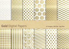 Check out Gold Digital Papers by GraphikCliparts on Creative Market