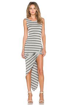 De Lacy Dawn Dress in Heather Grey & Black Stripe   REVOLVE