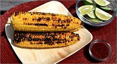 Mark Bittmans grilled corn, Mexican style. Photo: Fred R. Conrad/The New York Times