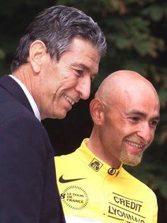 Con Felice Gimondi, l'ultimo italiano ad aver vinto il Tour de France prima di lui nel 1965