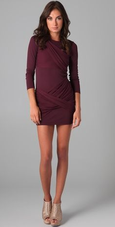 Alice and Olivia Long Sleeve Goddess Dress