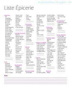 alimentation 2 liste d 39 picerie frawsy budget et organisation pinterest. Black Bedroom Furniture Sets. Home Design Ideas