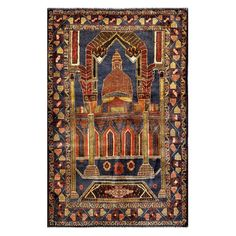 Herat Oriental Semi-antique Afghan Balouchi Hand-knotted / Rust Rug