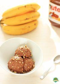 Helado de plátano y nutella. Receta fácil | cocinamuyfacil.com