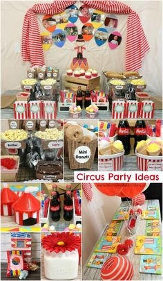 Circus Birthday Party Ideas - ideas for Circus Party food, decorations, games and more!