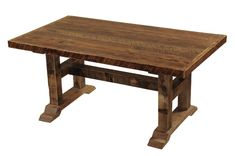Barnwood Timbers Dining Table Western Dining Tables - Add the natural beauty of barnwood to your dining room with this artisan piece. Individually hand crafted using reclaimed Red Oak planks from 1800s tobacco barns gives the furniture unique character. A dull catalyzed lacquer finish is extra durable and retains the natural look of the wood. Made in the USA.