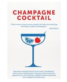 Crispin Finn Champagne Cocktail Screen Print