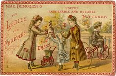 Demorest trade card c. 1860s–70s; Collection of the Lace Museum, Sunnyvale, CA