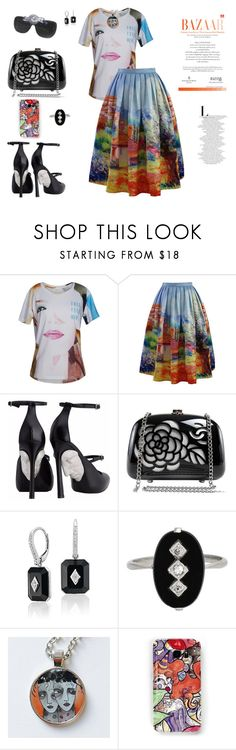 """Arty swag"" by agnesmakoni ❤ liked on Polyvore featuring Chicwish, Chanel and Samsung"
