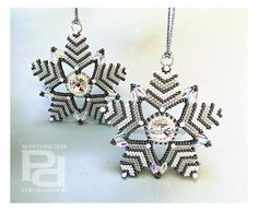 KingStar KIT and Tutorial - Limited numbers available due to discontinued Swarovski Barrel beads. KingStar - five pointed pentagram. A newly designed Holiday Season ornament for your tree,...@ artfire