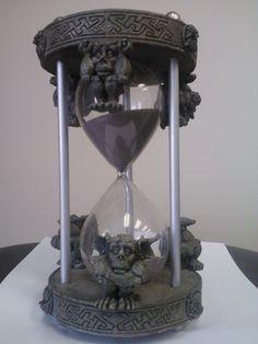 Resin Hourglass w/Gargoyle Design