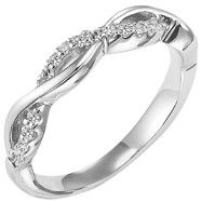 14k white gold and diamond pave detailed ring