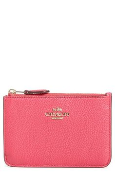 COACH Pebbled Leather Key Pouch available at #Nordstrom