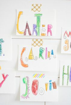 Personalized Watercolor Postcards! Easy and fun way for kids to send mail to grandparents and friends!