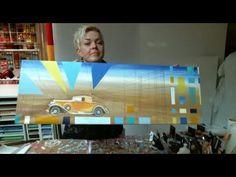 001203  maleri med decoupage biler artello