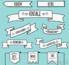 10 retro Ribbon banner vector