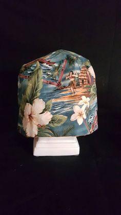 Ladies Vintage Hawaiian Scrub Hat by FoxHollowMarketplace on Etsy