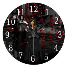 Gothic Ball Room Clock  Halloween decoration for the home.   http://www.zazzle.com/gothic_ball_room_clock-256416652031094362?rf=238271513374472230  #halloween  #halloweendecoration