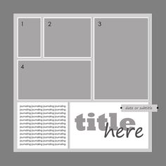 digital SB template- block, photos on top and title / journaling at bottom