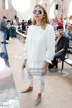 Maja Wyh attends the Dorothee Schumacher show during the Mercedes-Benz Fashion Week Berlin Spring/Summer 2017 at Elisabethkirche on June 29, 2016 in Berlin, Germany.