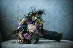 Purple flowers with thistles - Margaret Soraya Photography