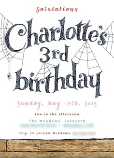 a charming charlotte's web party: customer guest post!