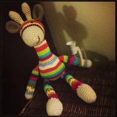 Crochet Stripey Giraffe Stuffed Animal