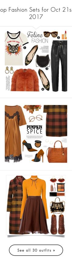 """""""Top Fashion Sets for Oct 21st, 2017"""" by polyvore ❤ liked on Polyvore featuring Gucci, Linda Farrow, Valentino, Givenchy, Petar Petrov, STELLA McCARTNEY, Kate Spade, Nico, Tory Burch and felinefashion"""