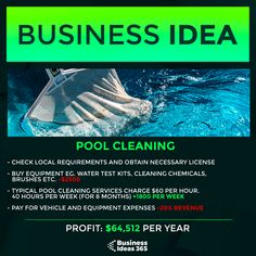 📹 Subscribe on Youtube for more ideas | #entrepreneur #makemoney #entrepreneurlife #money #business #youngentrepreneur #businessideas #startup #startupidea #makemoneyonline #workfromhome Pool Cleaning Service, Make Money Online, How To Make Money, Cleaning Chemicals, Young Entrepreneurs, Promote Your Business, Business Motivation, Online Marketing, Promotion