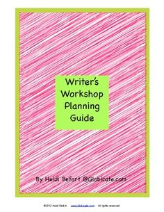 Freebie! Writer's Workshop Planning Guide