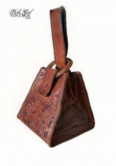1920 Tooled Leather Handbag