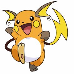 raichu - Orange pants and hoodie, brown shoes and gloves, sew on ears and tail, white belly, and paint face