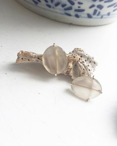 JPJ OVAL CUT MOONSTONE STUD Earrings found on janepopejewelry.com
