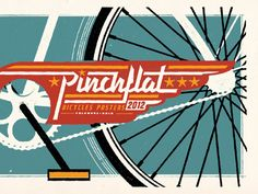Pinchflat designed by Brandon Rike. Connect with them on Dribbble; the global community for designers and creative professionals. Retro Bike, Bike Poster, Hand Drawn Type, Poster Pictures, Bicycle Design, Graphic Design Inspiration, Design Ideas, Graphic Design Typography, Retro Vintage