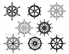 ship wheel to represent that God should be the one steering my path-not me and I should trust/praise him in the storm.
