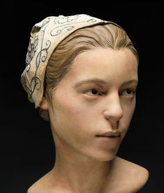 A forensic facial reconstruction of the 14-year-old victim of cannibalism at Jamestown during the winter of 1609.